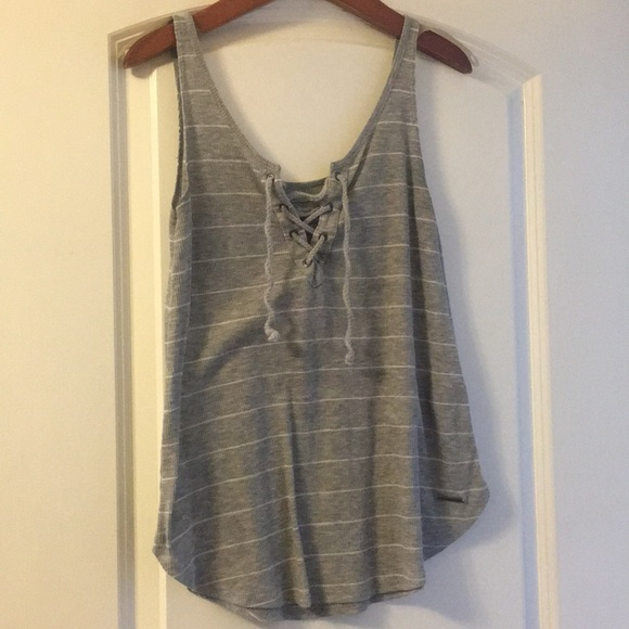 Abercrombie & Fitch Tops - Abercrombie and fitch lace up tank top